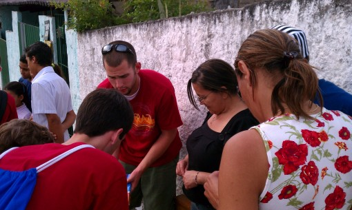 Matt Webster & Josh Dabbs sharing Christ with Brazilians